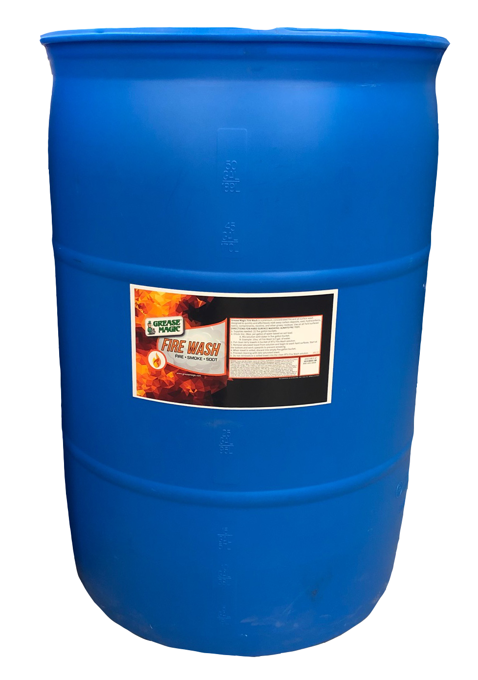 Fire Wash 55gal Drum Grease Magic Industrial Cleaning